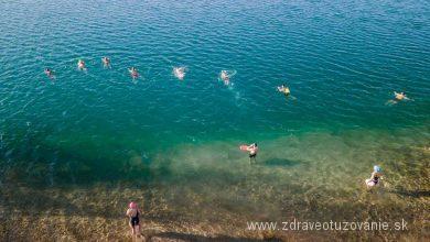 Košariská Veľká voda - zimné plávanie